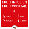 Fruit infusion cocktail rode vruchten thee